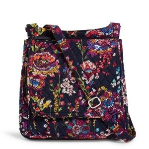 Vera Bradley Mail Bag in Midnight Wildflowers